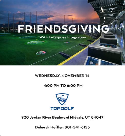 Friendsgiving 2018 Event in Top Golf